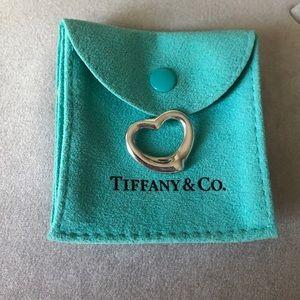 Tiffany & Co. Open Heart Sterling Silver Pendant